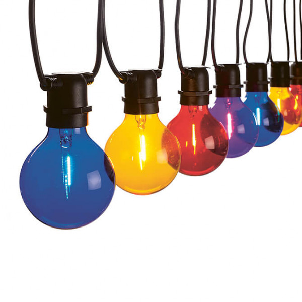 Vintage Partylight Lichterkette bunt (In- & Outdoor)