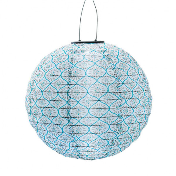 Lampion solarbetrieben, blau (In- & Outdoor)